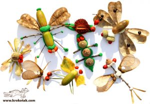 Modele de colaje din materiale naturale ce pot fi confectionate la Fundatia Snagov.