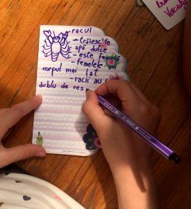 Unii copii își iau și notițe...